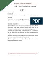 Advanced Concrete Technology- 10cv81- ACE Notes