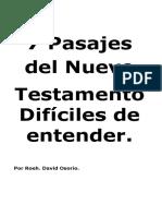 7 Pasajes Del Nuevo Testamento Difíciles de Entender TERMINADO