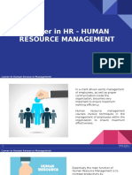 Career in HR - HUMAN RESOURCE MANAGEMENT