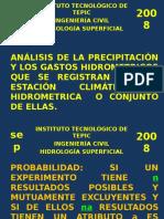 Analisis probabilistico de HIDROLOGIA ITTEPIC