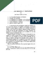 Comunidad Hispanica y Cristiandad - José Pedro Galvao de Sousa