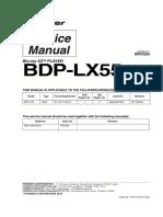 Pioneer Bdp-lx55-53fd Service Manual