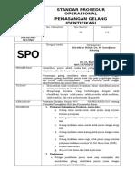 SPO Pemasangan Gelang Identifikasi