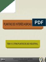 Tema 19 Plantas de Interes Industrial