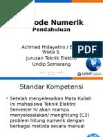 Kuliah 1 Metode Numerik