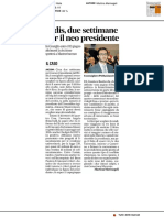 Erdis, due settimane per il neopresidente - Il Corriere Adriatico del 27 maggio 2017