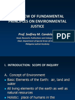 1st Session -- Overview of Fundamental Principles on Environmental Justice - (Dean Candelaria)