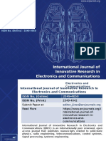 International Journal of Innovative Research in Electronics and Communications-ARC Journals