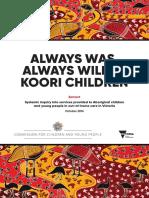 Always Was Always Will Be Koori Children Inquiry Report Oct16 Extract