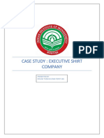 Case Study Executive Shirt Company
