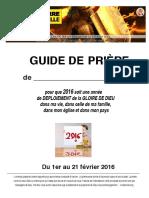Guide de Priere