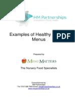 Liverpool Nursery Nutrition Project Healthy Nursery Menus