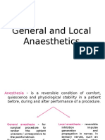 3. General and Local Anaesthetics