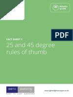 Fact Sheet 1 25 and 45 Degree Rules of Thumb