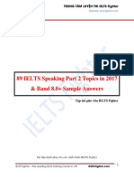 89 IELTS Speaking Part 2 Topics in 2017 - IELTS Fighter