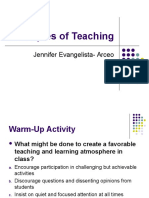 A Review on Principles of Teaching