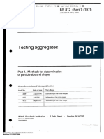 BS 812 Part 1- 75 (Methods of Determination of Particle Size and Shape)