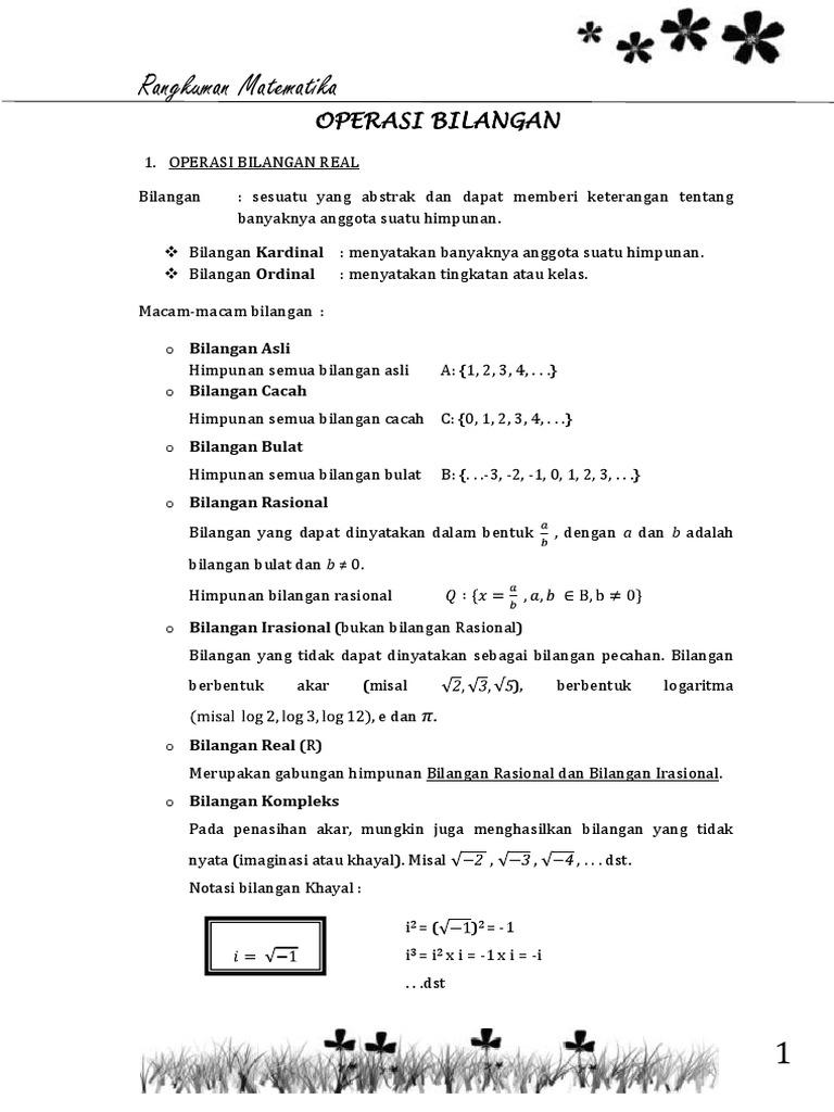 Rangkuman materi matematika kelas x sma ccuart Images