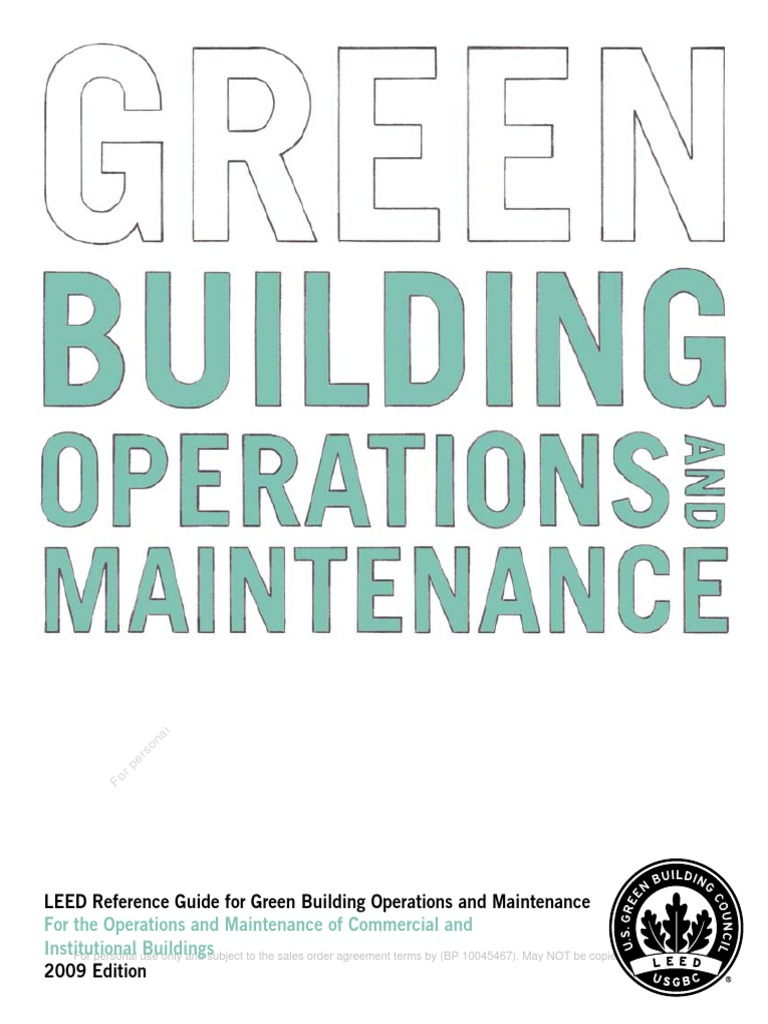 Reference Guide for Operations and Maintenance | Green Building | Copyright