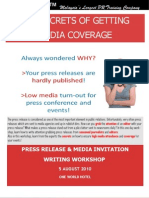 Press Release & Media Invite Writing Workshop