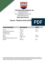Toluene - Nitration Grade_Tech