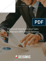 47 Crucial Questions Your Sales Enablement RFP Should Address