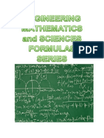 Engg Mathematics and Sciences Formulas Series