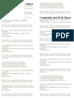 Letra Candombe Del 25 de Mayo