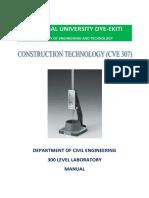 300 Level Construction Materials Practical Manual
