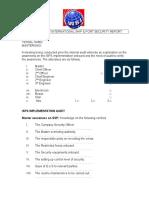 ISPS Audit Form