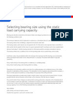 Selecting Bearing Size Using the Static Load Carrying Capacity