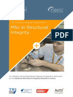 PG MSc Structural Integrity Brochure