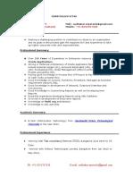 Sudhakar Resume