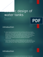 Seismic Design of Water Tanks