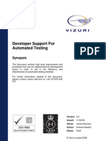 Developer Support for Automated Testing v0.2