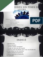 Fundaciones Sin Fines de Lucro (1)