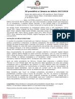 Cláudio Barp presidirá a Câmara no biênio 2017-2018