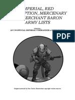 LASERBURN Standard Army Lists