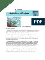 Definición y Utilidad de La Hidrología