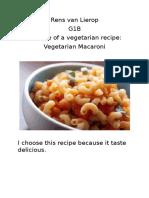 analyse of a vegetarian recipe