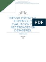 Riesgo Potencial Epidemico y Evaluacion de Necesidades en Desastres
