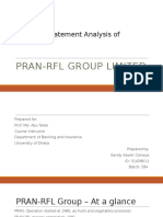 Financial Statement Analysis of Pran-RFL Group Limited