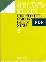 TOMO 4. Relato del psicoanálisis de un niño [Melanie Klein].pdf