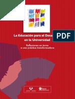 La Educación para el Desarrollo en la Universidad.  Reflexiones en torno a una práctica transformadora