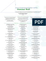 2015 CFE Honour Roll English