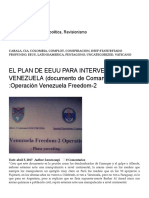 El Plan de Eeuu Para Intervenir a Venezuela (Documento de Comando Sur) _operación Venezuela Freedom-2