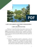 Carta Jardins Historicos Juiz de Fora