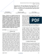 To Study the Comparison of Mechanical Properties of BananaKapok Fabrics Reinforced Unsaturated Polyester Resin (1)