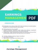 Teori Akuntansi - Earnings Management
