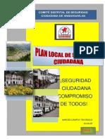 Plan Local de Seguridad Ciudadana Andahuaylas 20162